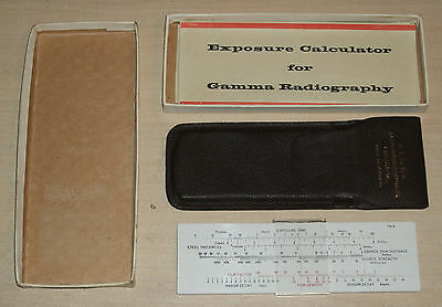 Vintage Exposure Calculator for Gamma Radiography (1950s)