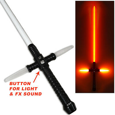 RARE Light Beam Sword RECHARGEABLE Saber Metal Handle Motion Sound Active SFX