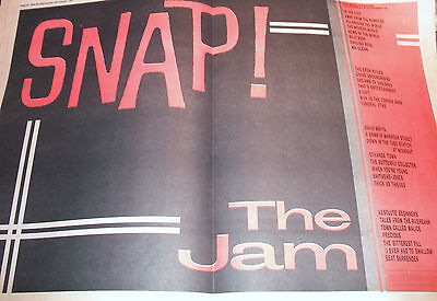 """The Jam 1983 """"snap"""" Double Page Advert A2"""