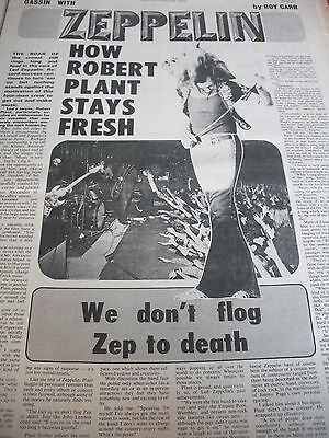 LED ZEPPELIN 1972 Robert Plant interview full page of A3