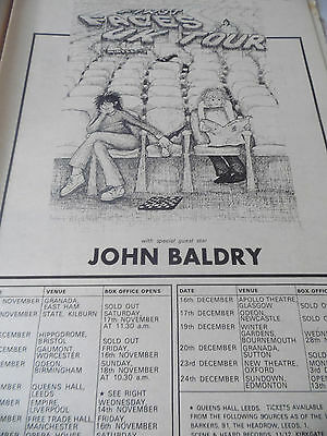 THE FACES 1973 tour dates & Venues Advert with L.J. Baldry Full page