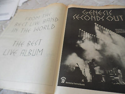 """Genesis Best Band In The World  """"seconds Out"""" A2 Double Page"""