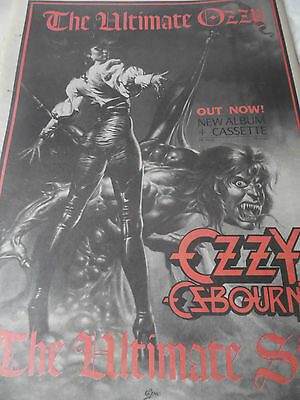 """OZZY OSBOURNE """"The Ultimate Sin"""" Album advert from 1986 full page"""