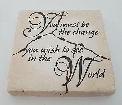 """""""You must be the change you wish to see in the world"""" Ghandi Quote Wall Decor"""
