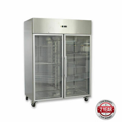 Upright Freezer, 1476Litre, 2 Glass Door, Grand Ultra Tropicalised Refrigeration