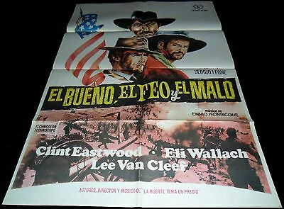 1966 The Good, the Bad and the Ugly ORIGINAL SPAIN RR70 POSTER Sergio Leone