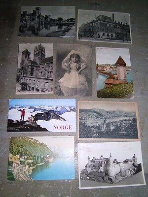 Lot Vintage Postcards of EUROPE Norway Germany Netherlands Italy France/ 1 Egypt