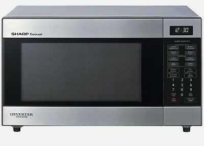 Sharp Midsize Microwave 395YS in Stainless Steel
