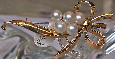 18ct gold brooch with pearls!!
