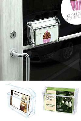 Detachable Waterproof Outdoor Business Card Holder With Adhesive Tape/Wall Mount
