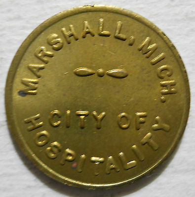 Marshall, Michigan parking token - MI3610A