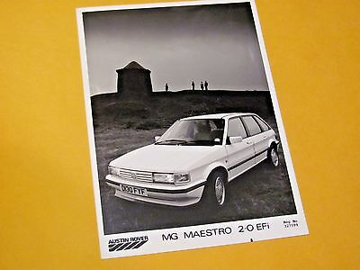 MG MAESTRO EFi ORIGINAL PRESS PHOTO