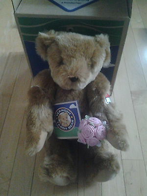 Vermont teddy bear with flowers