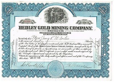 Hedley Gold Mining Co., (Canada) 1933