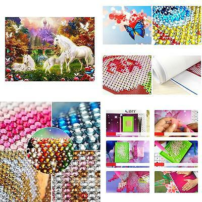 5D Castle Diy Drill Pictures Embroidery Arts Artificial Diamond Painting Glaring