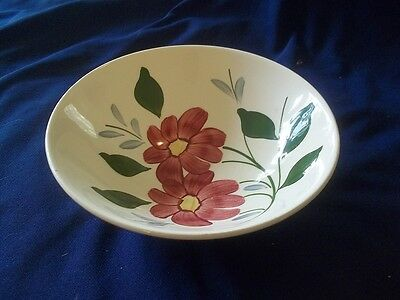 Blue Ridge Pottery GAIETY  Skyline Red Flower   Large Round Serving Bowl