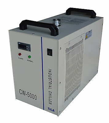 110V Industrial Water Chiller CW-5000DG for 80W/100W Laser Tube Cooling