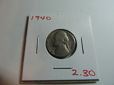 1940 US American Nickel coin A578