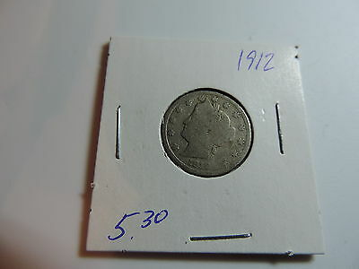 1912 US American Nickel coin A477