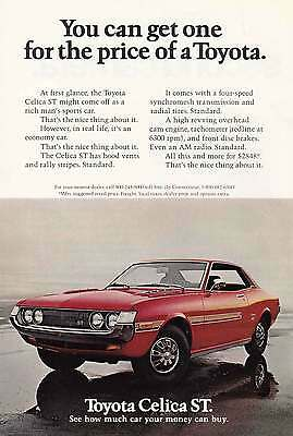 1972 Toyota Celica ST: Red Print Ad (13127)