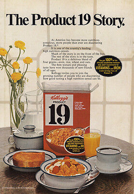 1971 Kellogg's Product 19 Cereal: The Product 19 Story Print Ad (23017)