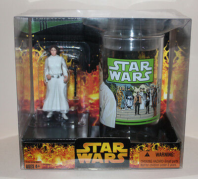NICE BOX Star Wars PRINCESS LEIA CARRIE FISHER Classic Dress Action Figure & Cup