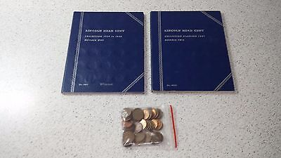 United States One Cent Coin Collection - 2 Books, 1 Bag Of Coins-1909 to Present