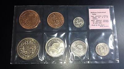 1965 New Zealand Uncirculated Mint Coin Set - With Silver