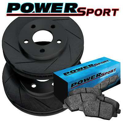 Fit 1984-1986 Nissan 300ZX Front Sport Drill Slot Brake Rotors+Ceramic Brake Pad