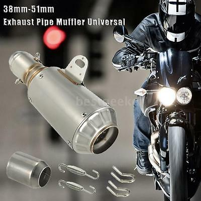 51mm Universal Motorcycle ATV Frosting Exhaust Pipe Muffler Stainless Steel NEW