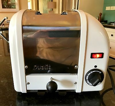 Retro DUALIT two slice white and stainless steel ex condition toaster
