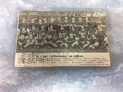 The Springboks in London - Rugby Postcard 1916