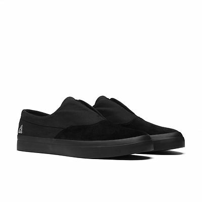 HUF Dylan Slip On Black/Black VC00009 Mens Skateboarding Shoes