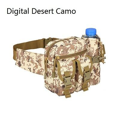 Outdoor Camouflage Waist Pack Tactical Hunt Hiking Detachable Water Bottle Bag