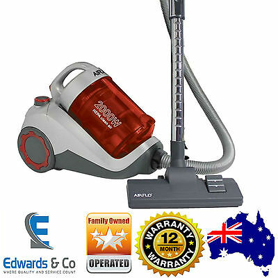 Bagless Vacuum Cleaner Cyclone Cyclonic HEPA Filtration System 2000W 20L Airflo