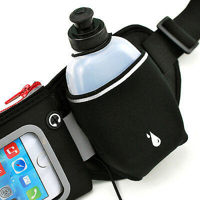 Running Hydration Belt with 2 BPA-Free Leak Proof Water Bottles