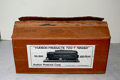 Hudson Products 700T Tender Box Very Good Nice Label no Tender