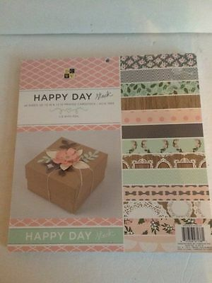 Happy Day Printed Cardstock 46 sheets 12 x 12 scrapbook paper crafts 1/2 foil