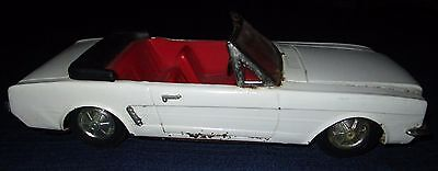 1964 Ford Mustang Convertible Toy Tin Car  11 1/2 x 4