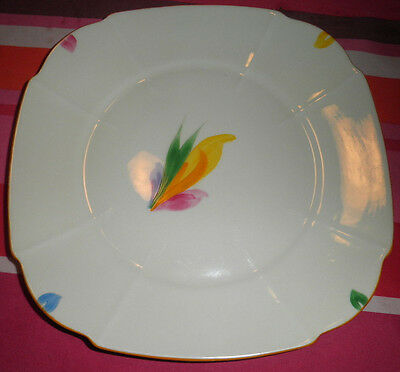 PARAGON CHINA HANDCRAFT HAND PAINTED 22cm CAKE PLATE