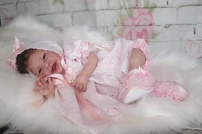 Tickled Pink Nursery ~Smiling Baby Arya by Ping Lau-now reborn baby Ava