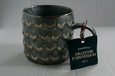 2015 Starbucks Anniversary Golden Scales Siren Mermaid 10 oz. Mug Brand NEW !!!