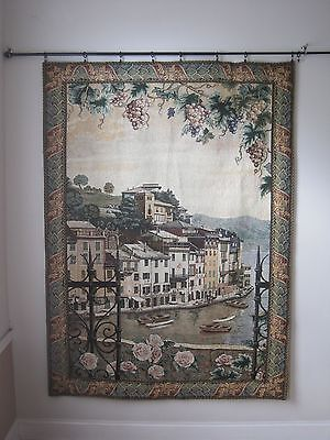 """Manual Woodworkers and Weavers Tapestry Wall Hanging 76"""" x 55"""" South Town"""