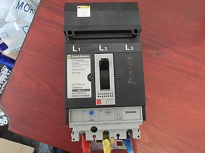 Square D MCCB CDAE34063 circuit breaker triple pole + trip & adjustable amp.