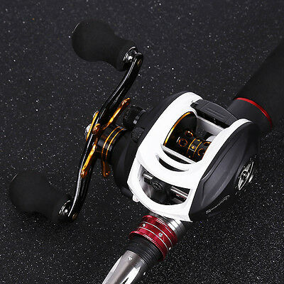 Baitcasting Fishing Rod with Reel Combos Left Right Hand Bass Trout Fishing Kits