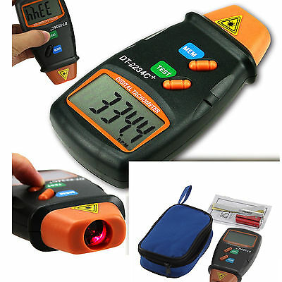 Handheld LCD Digital Laser Photo Tachometer Non Contact RPM Tach Tester Meter 2C