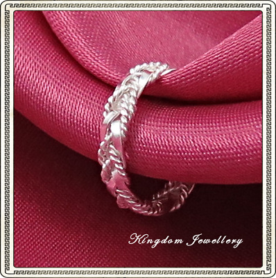 925 Sterling Silver Braid Weave Intertwined Toe Ring