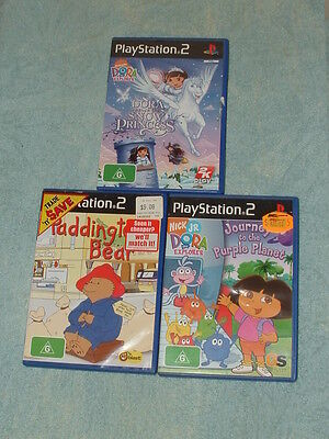 3 PlayStation 2 games: Dora the Explorer - Journey to the Purple Planet & MORE.