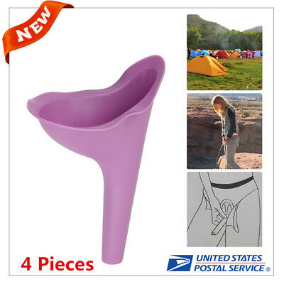4X Outdoor Travel Female Urine Lady Urinal Funnel Urination Device Soft Silicone