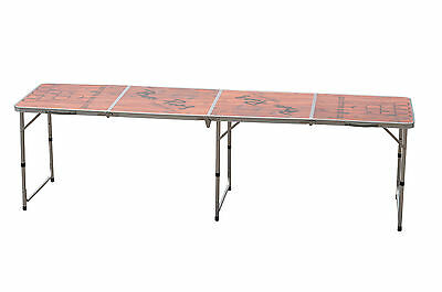 Official tournament size 8ft beer pong table wood design